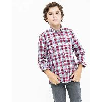 CAMISA SCOTTA NIÑO COLOURS BURDEOS