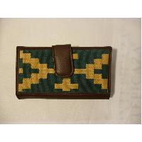 CARTERA SRA PAMPA MARRON/VERDE